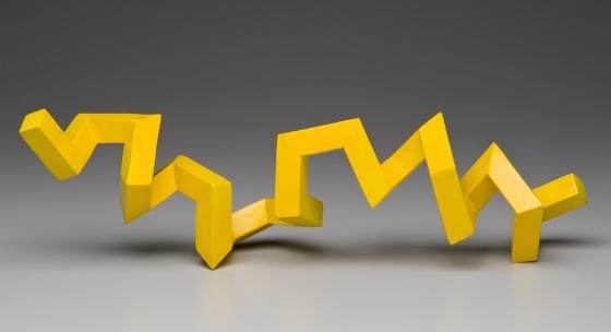 "Melittin, 2009Painted steel 5"" x 17"" x 7"" (13 cm x 43 cm x 218 cm), Julian Voss-Andreae"